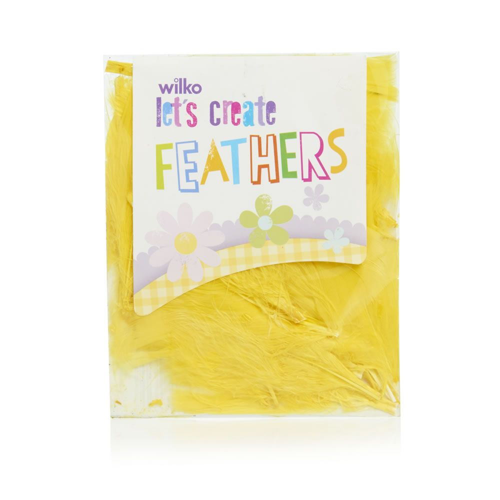 Wilko easter craft feathers yellow wilko easter bonnet crafts by wilko easter craft feathers yellow negle Choice Image