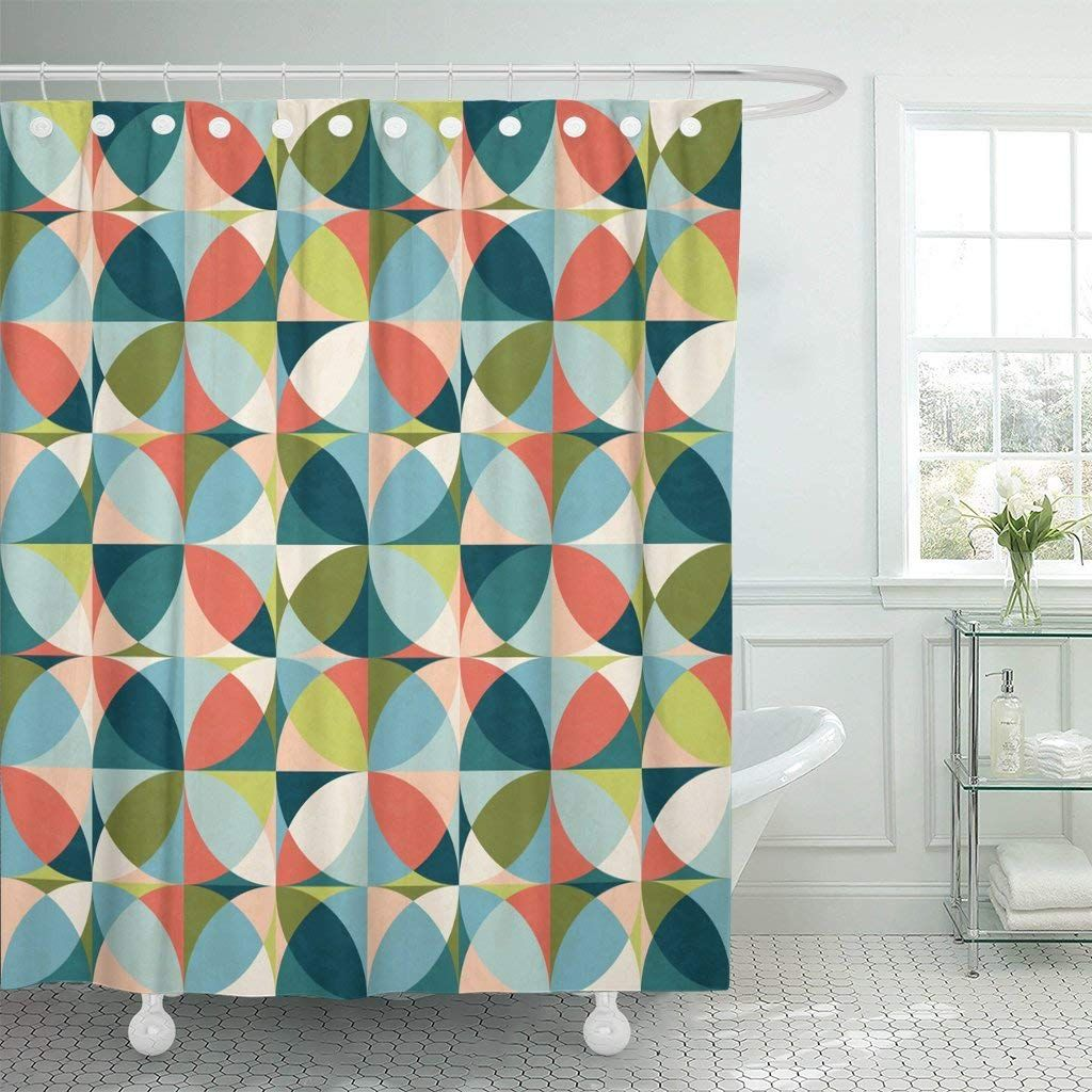 Mid Century Modern Shower Curtain Curtain Images