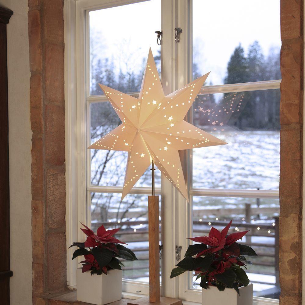 Standleuchte Stern Karo Weihnachtsdeko Weihnachten Christmas Advent Interior Interiordesign I Weihnachtsbeleuchtung Standleuchte Led Kerzen