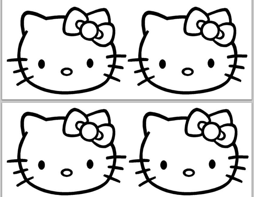 Hello Kitty Face Coloring Pages Print Ulang Tahun Seni Gambar