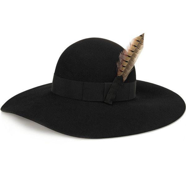 Grosgrain-trimmed Straw Hat - Black Saint Laurent bBDwVf