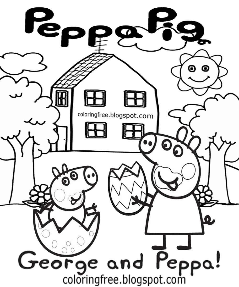 Peppa Pig Coloring Pages Beautiful Unique Peppa And George Pig Coloring Pages Kursknews V 2020 G