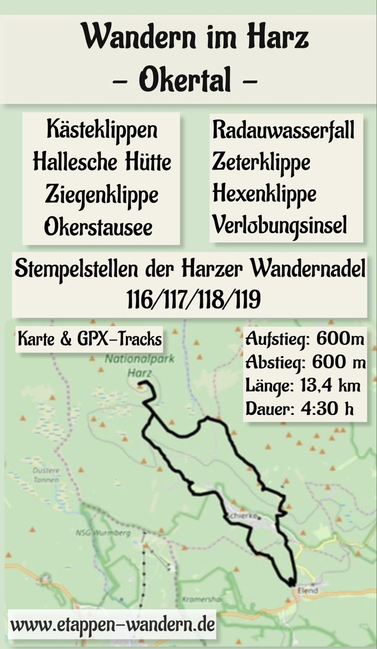Photo of Hiking in the Harz Mountains: Harzer hiking pin cliffs in the Okertal