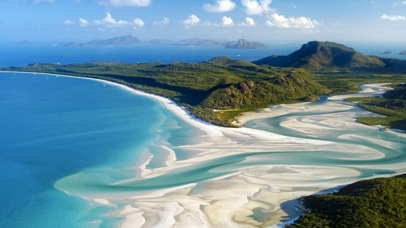 Whitehaven Beach Australia Whiteheaven Is Known For It S White Sands The Consist Of 98 Pure Silica Which Gives A Bright Color