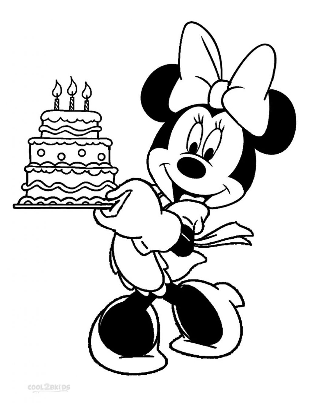 Mickey Mouse Coloring Pages Birthday Minnie Mouse Coloring Pages