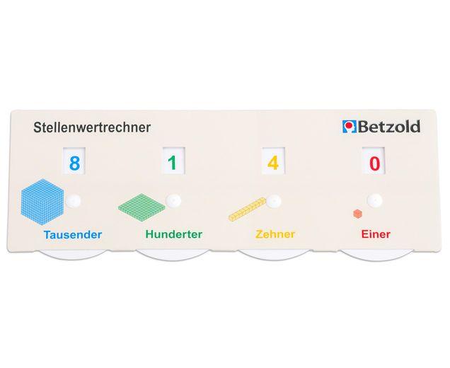 Stellenwert-Rechner #Rechnen #Mathematik #Dezimalsystem #Betzold ...