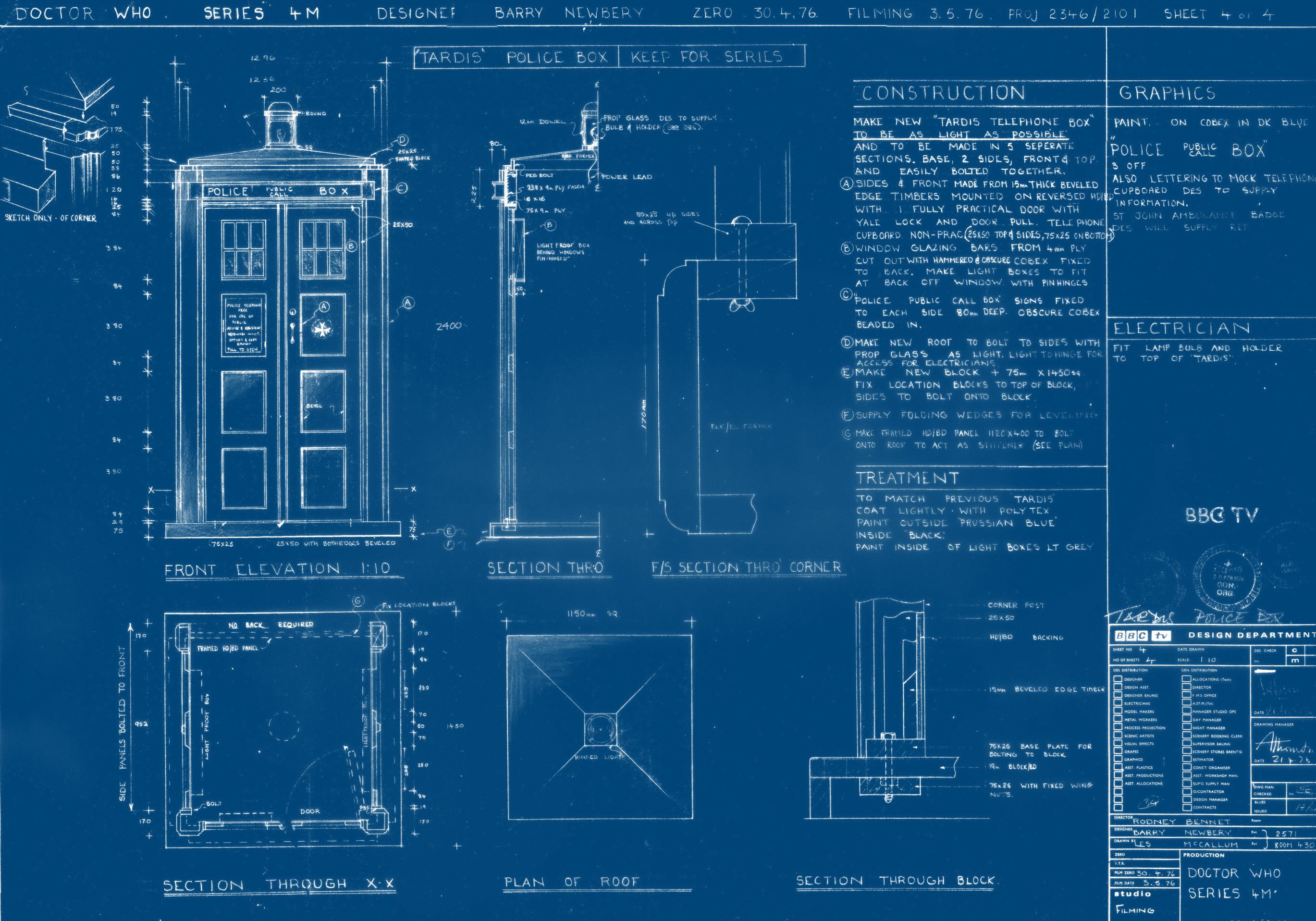 Cool TARDIS blueprint wallpaper [2739x1917] Tardis