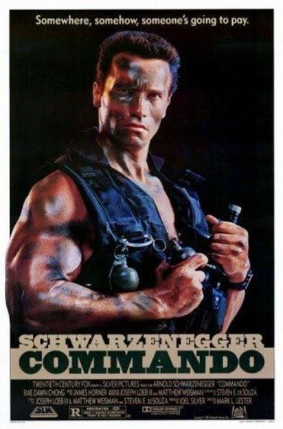 Commando - Boy his acting sucks in this film, but I do dig the story and action. Great 80's flick.