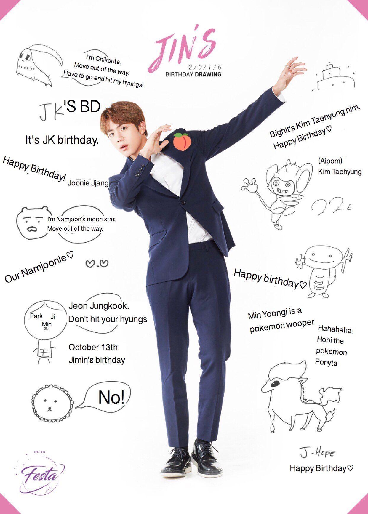 Jin's birthday wishes Bts jin, Bts birthdays, Jin