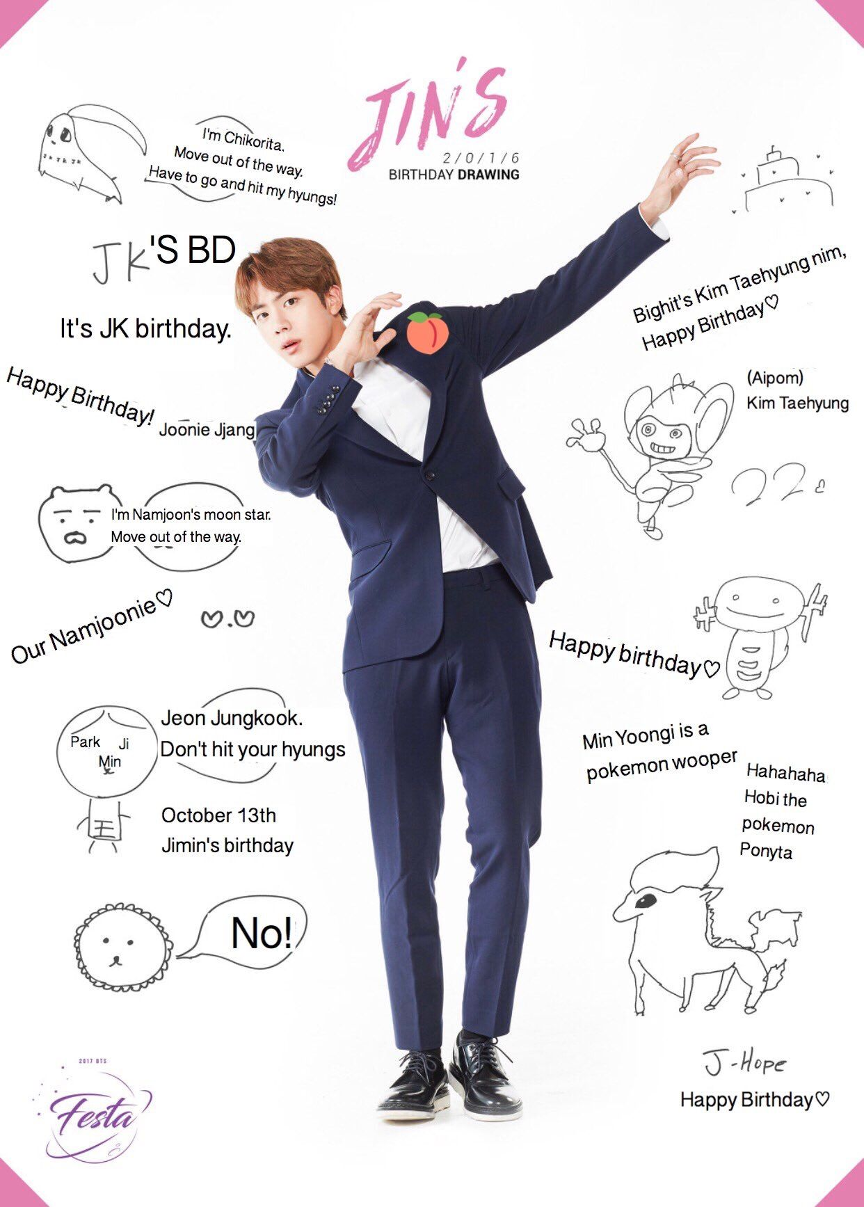 Pin By Tmf Smilingeyes On Jin Bts Jin Bts Birthdays Jin