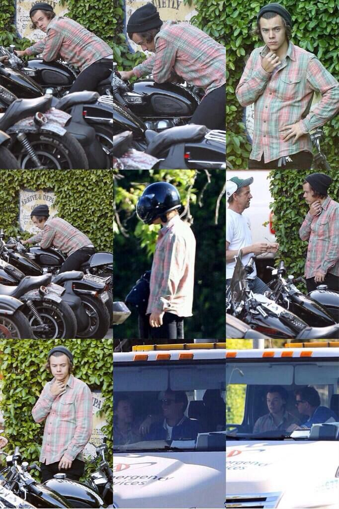 Harry is getting a bike<<< yet he can't buy new jeans...*smh*
