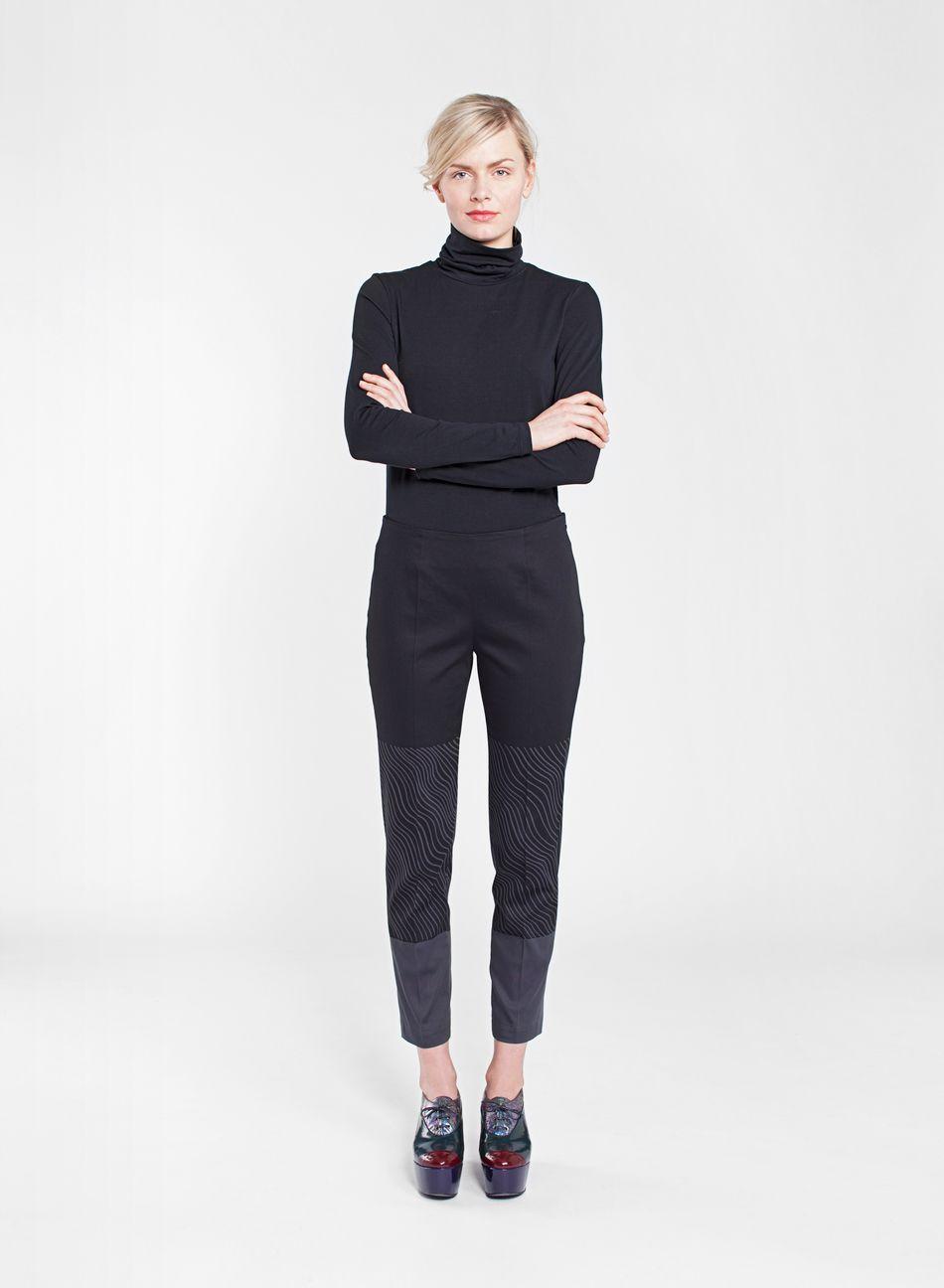 Karppi-housut (musta, harmaa) |Vaatteet, Housut, Naiset | Marimekko