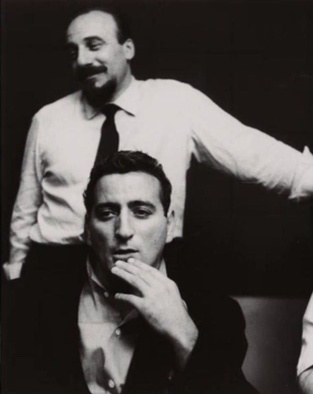 Tony Bennett and Mitch Miller. 1950s.