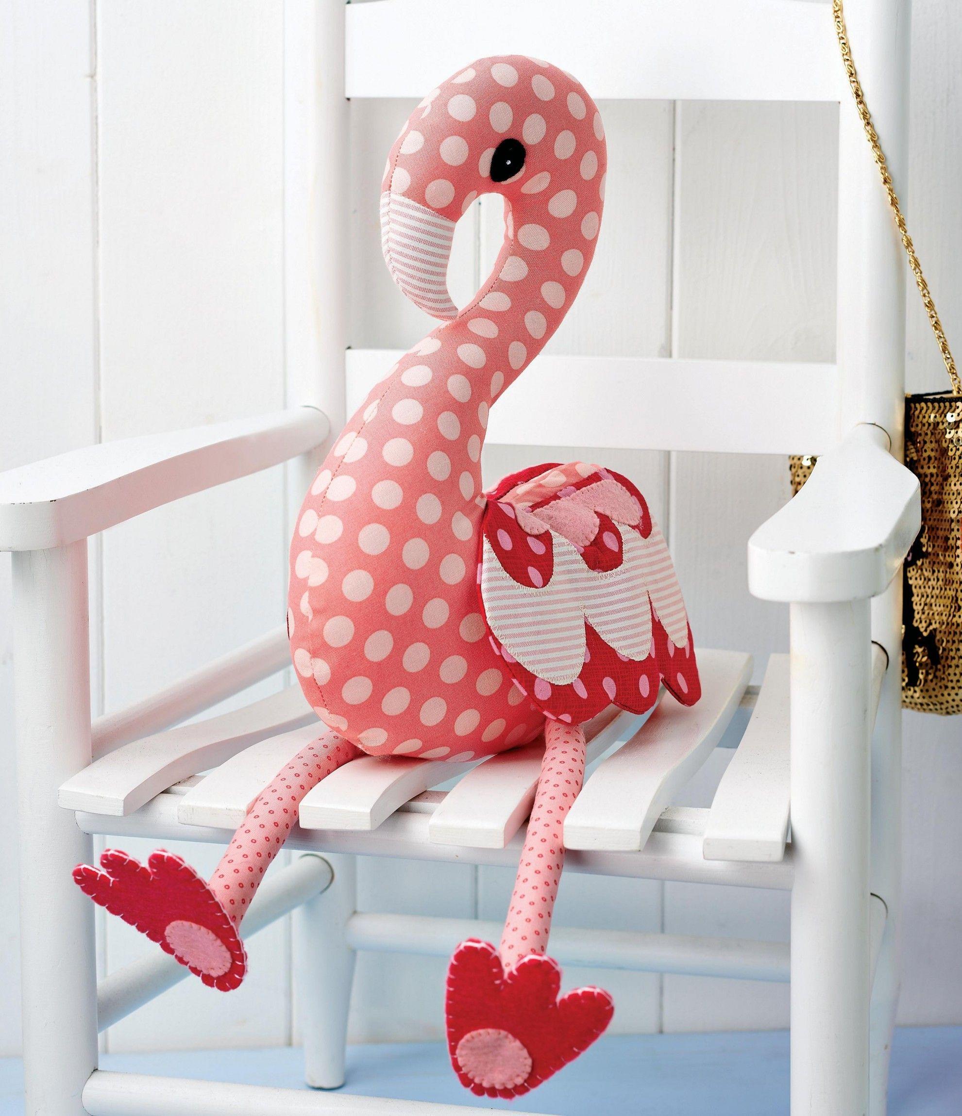 Flossie Flamingo - Free sewing patterns | Kuscheltiere, Nähen und ...
