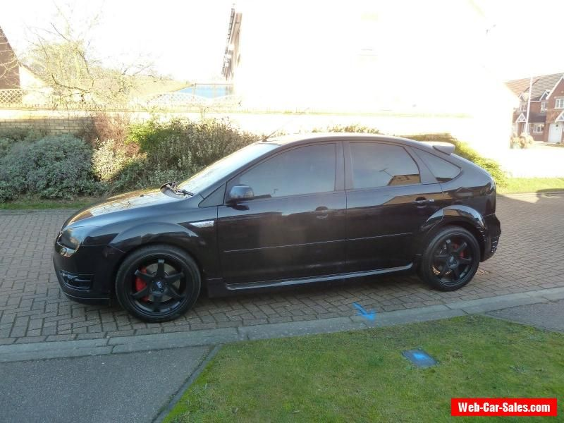2007 07 Ford Focus St 3 2 5 5dr Black Ac Alloys Leather Fsh No Reserve