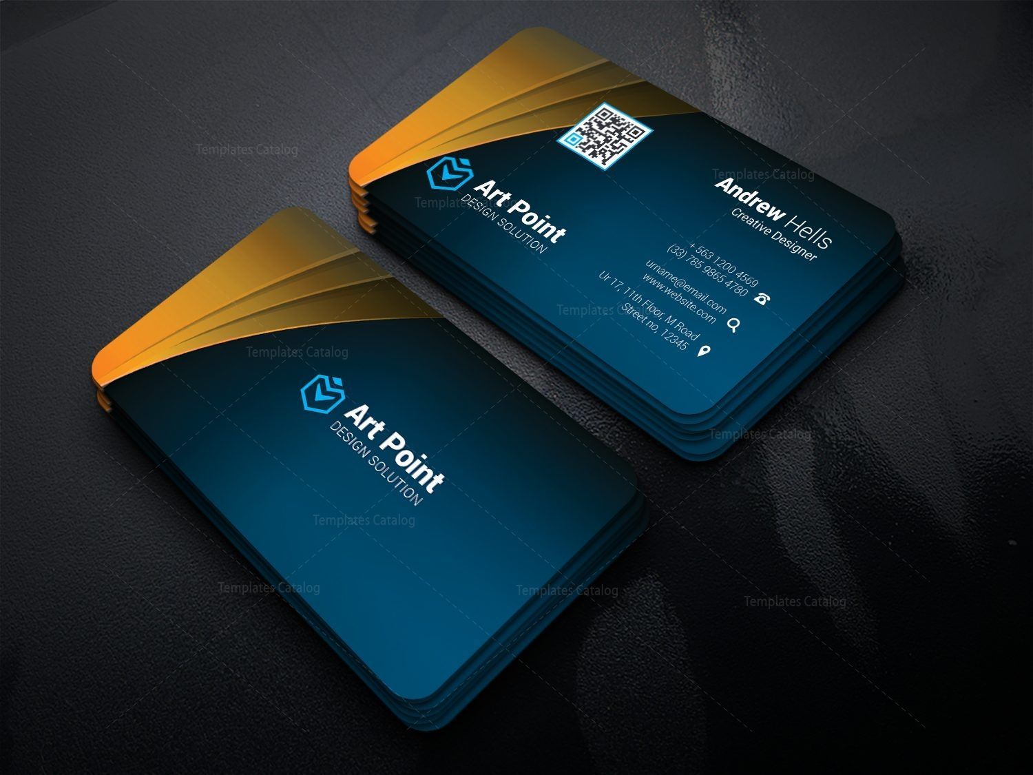 Asclepius Professional Corporate Visit Card Template 3