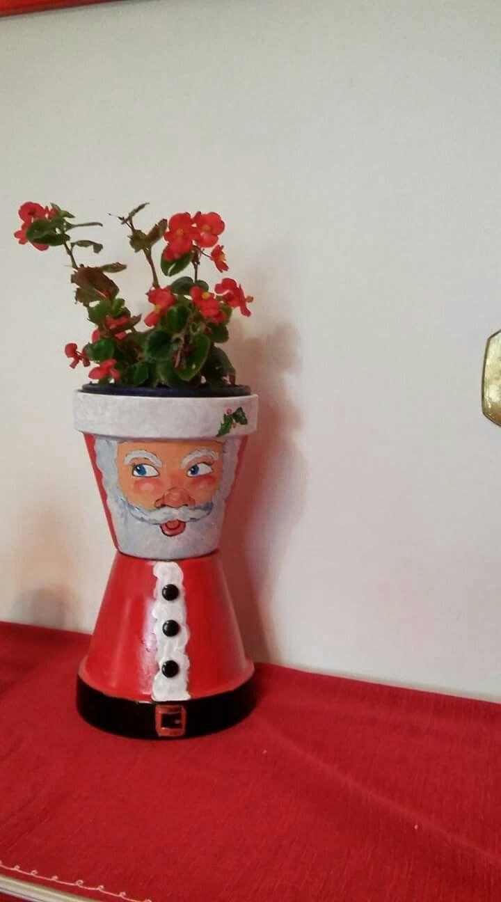 pin by sandy pabst on bottles christmas clay flower pot. Black Bedroom Furniture Sets. Home Design Ideas