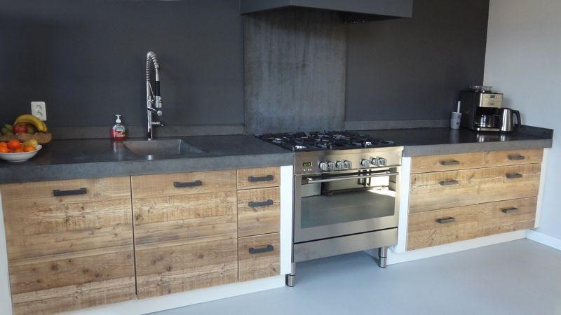 Wit Stoere Keuken : Keuken stoer hout beton wit google zoeken cozinha casa nova