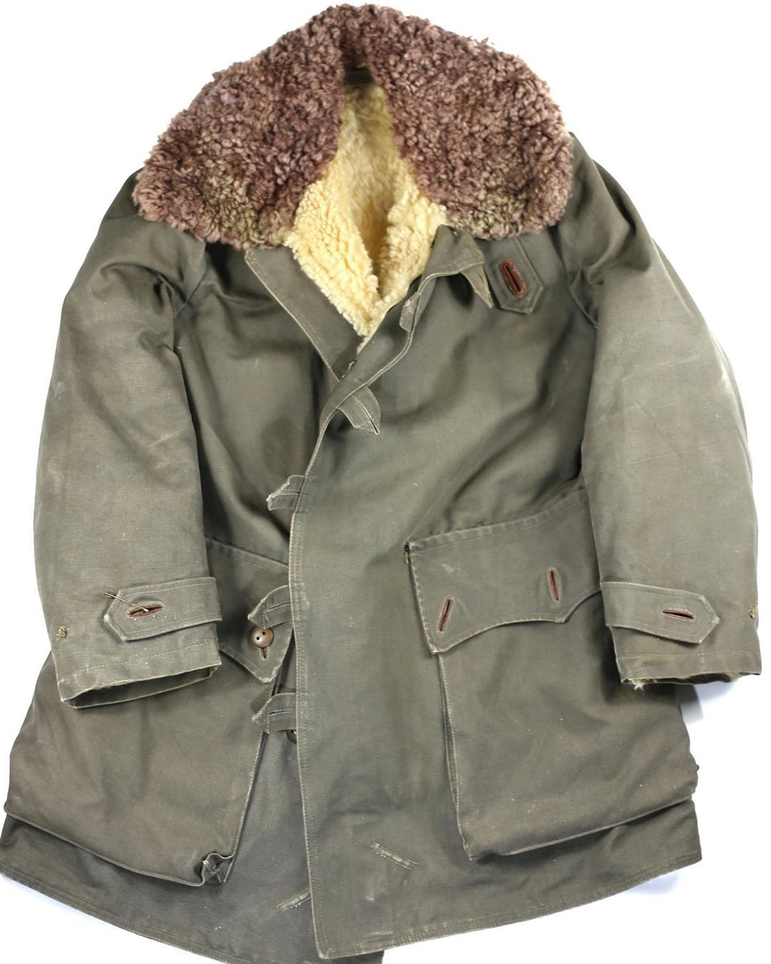 Bunker Clothes On Instagram Swedish Army Shearling Coat 1940 Size 1 L Xl Shipment In All Europe Shearling Coat Clothes Military Jacket [ 1350 x 1080 Pixel ]