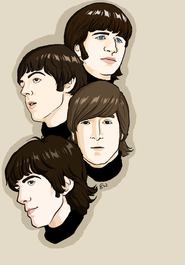 The Beatles En El Arte Beatles Art Beatles Illustration Beatles Drawing
