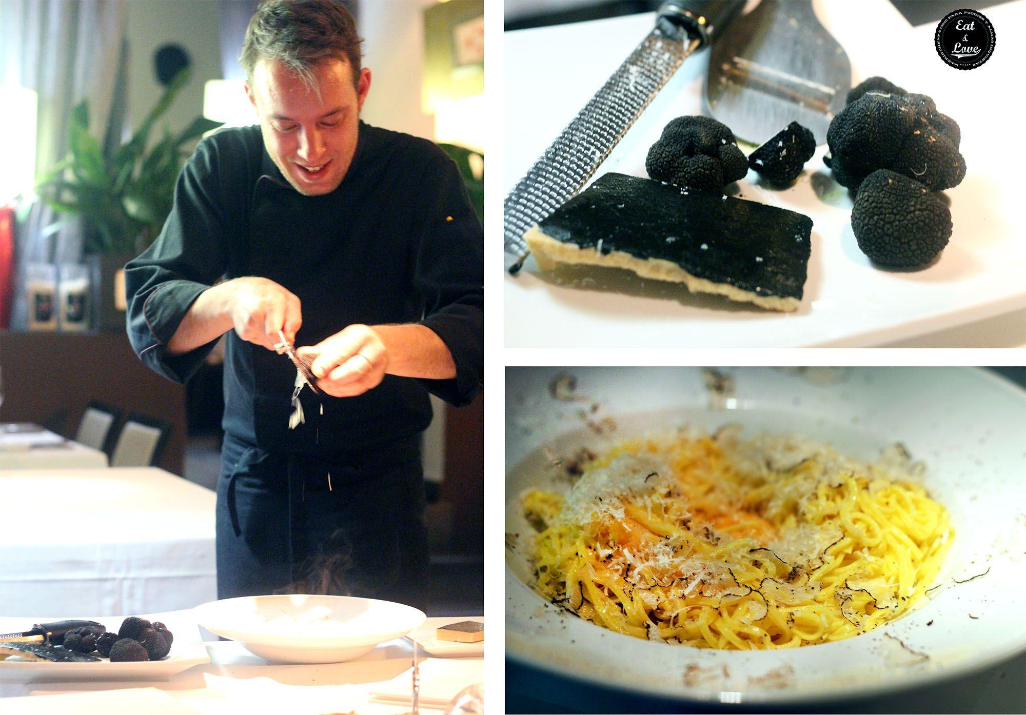 Tagliolini con trufa en restaurante italiano Gioia Madrid