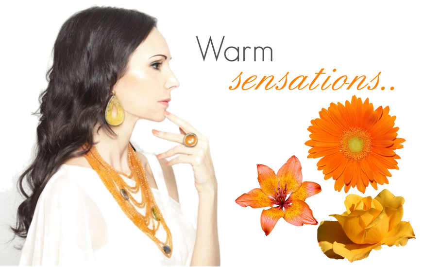 Orange is the color of a warm sensation, of a positive mind and of the up-coming Autumn..  http://www.civettajewels.it