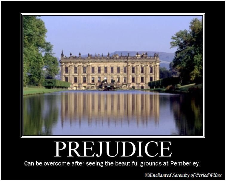 Enchanted Serenity of Period Films: Period Motivational Posters | Pride and prejudice, Jane austen, Prejudice
