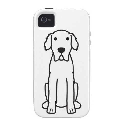 Great Pyrenees Dog Cartoon Case-Mate iPhone 4 Cases