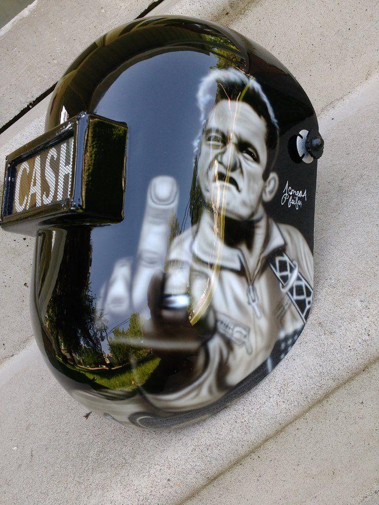 Johnny Cash Themed Welding Helmet In 2018 Home Dcor Pinterest Diagram
