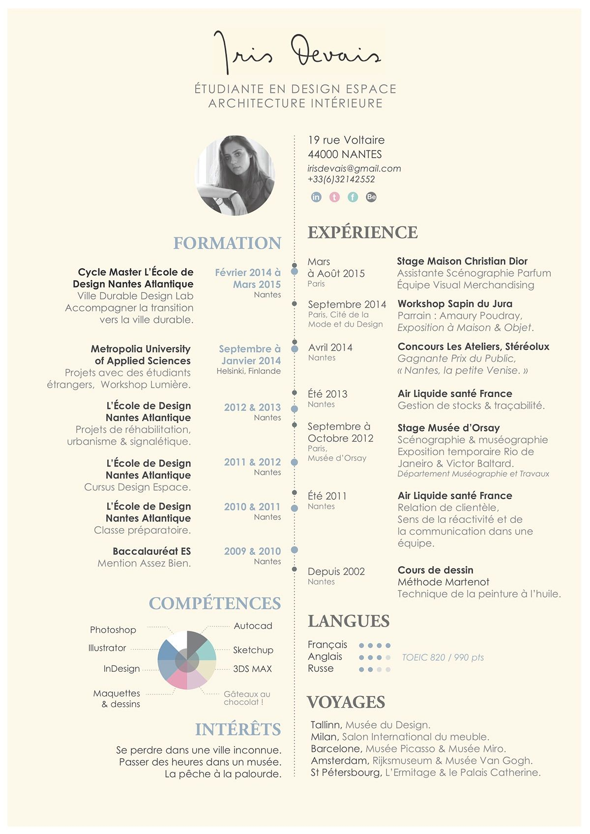 curriculum vitae  on behance