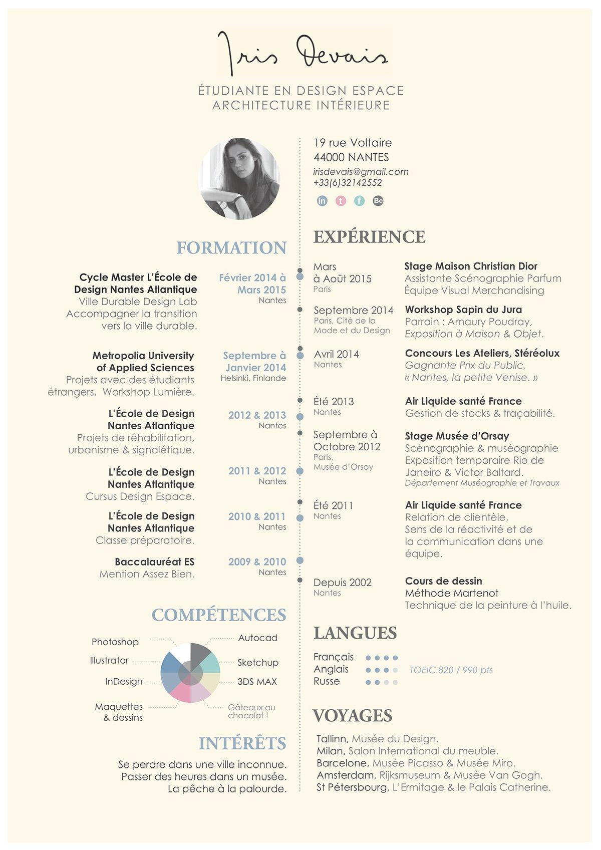 Curriculum Vitae On Behance Graphic Design Pinterest