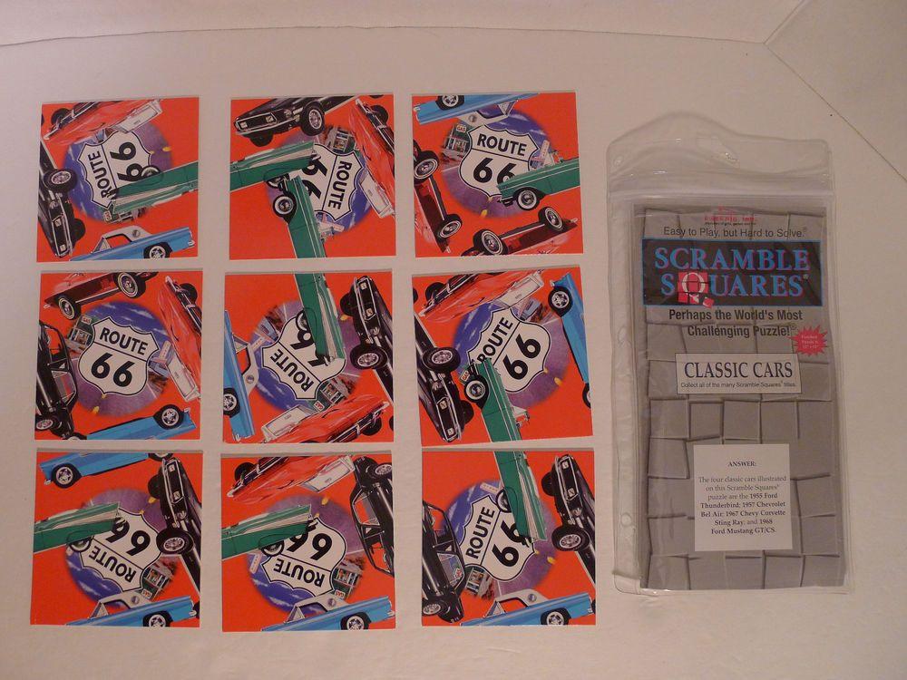 B-dazzle Scramble Squares Puzzle Classic Cars 9 Piece Puzzle  #bdazzle
