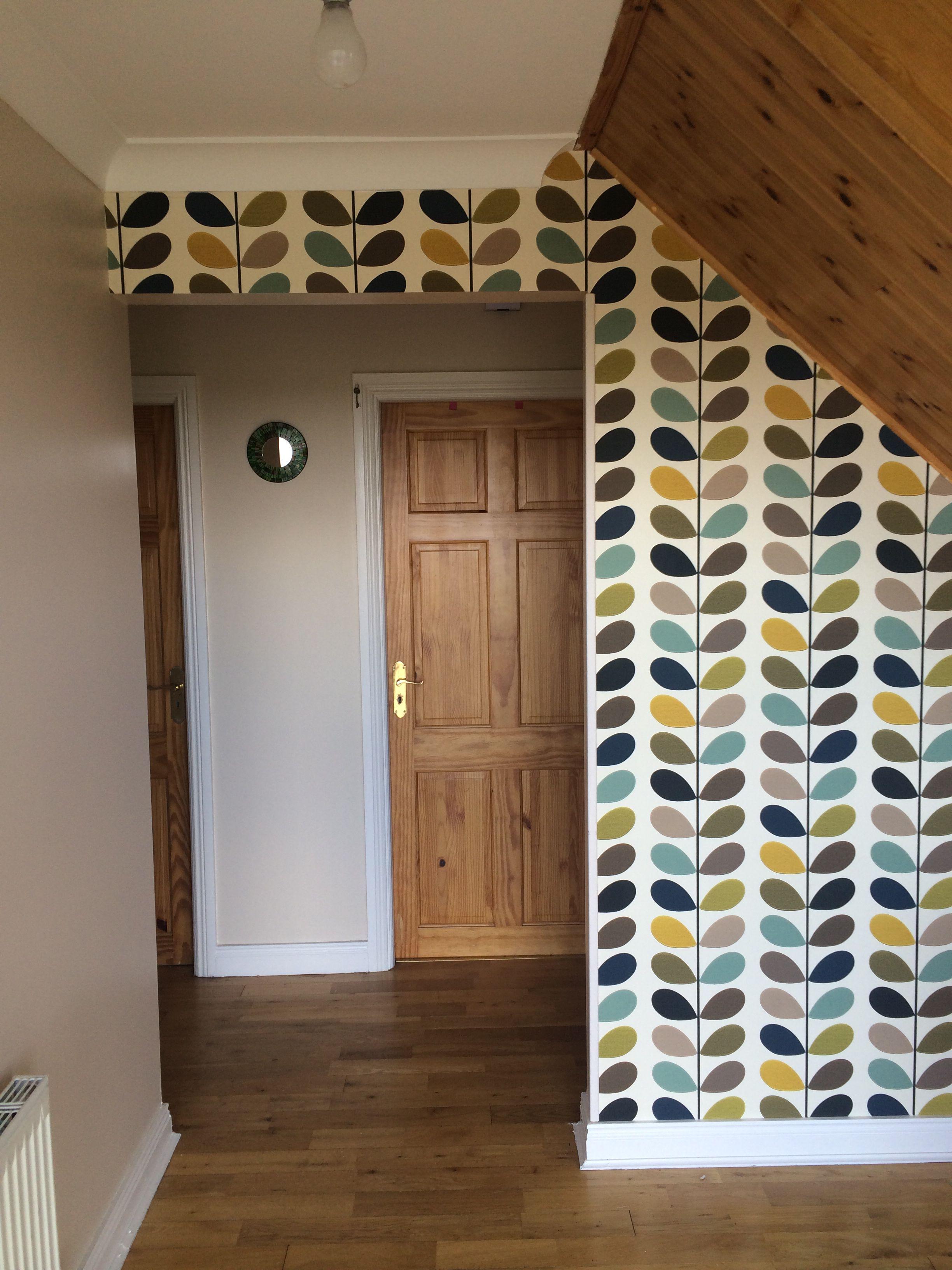 Orla kiely linear stem wallpaper - Orla Kiely Multi Stem Wallpaper Hall