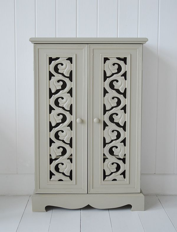Hall Cupboards Furniture vermont french grey small hall cupboard storage with shelves