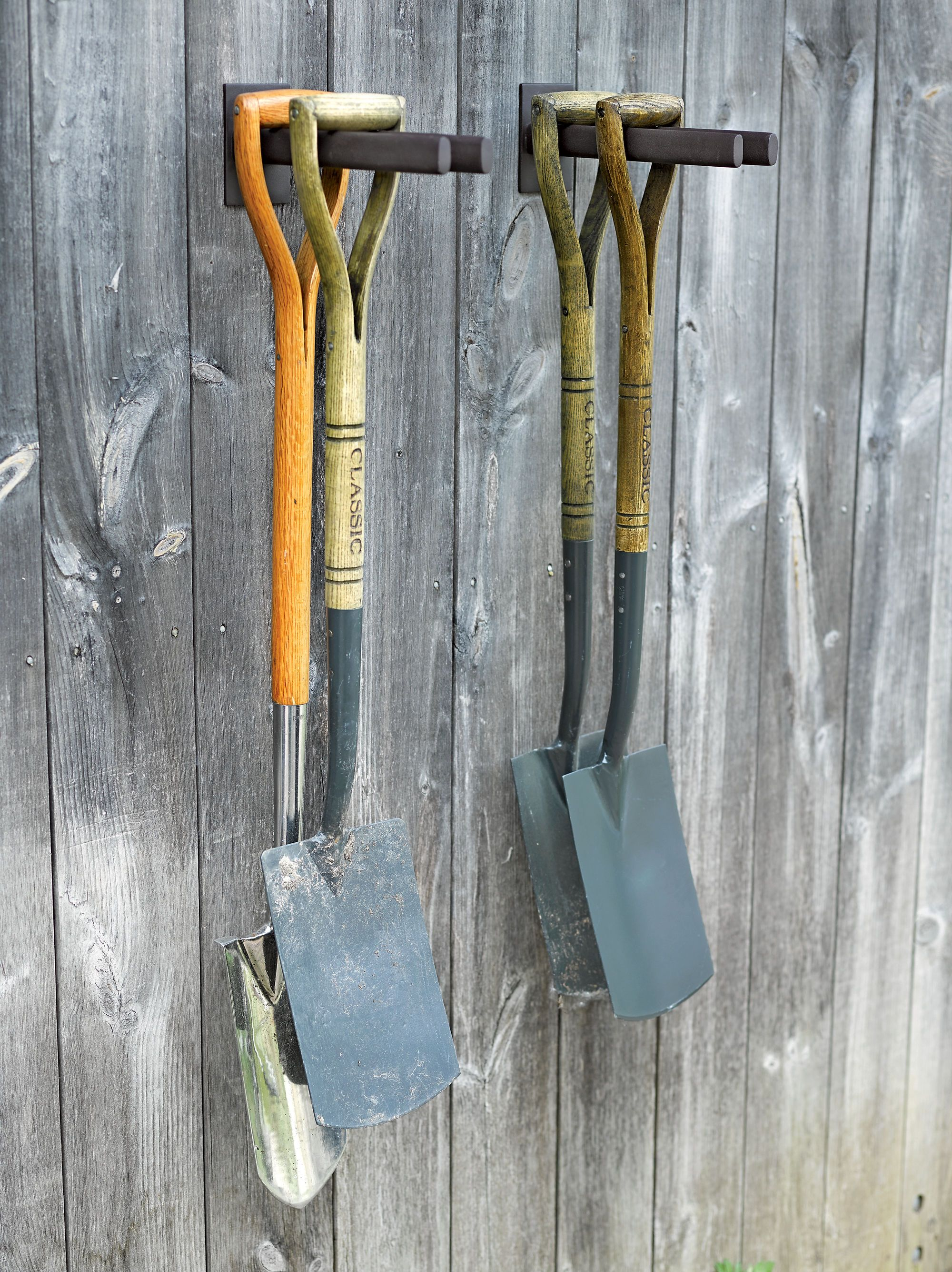 Garden Tool Storage Ideas garage storage use a pallet pick one up behind a store bolt into Garden Tool Rack Steel Rack For Shovels Hoes Gardenerscom