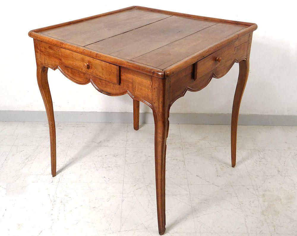 Table Cabaret Louis Xv A Jeu Merisier Sculpte Antique French Table Xviiie Luc De Laval Antiquites A Vannes Proantic Mobilier De Salon Mobilier Ancien Table