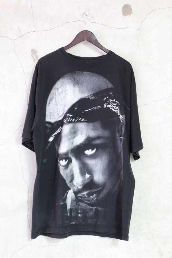 Tupac shirt vintage THUG LIFE black 90s vintage by imtryingtofocus
