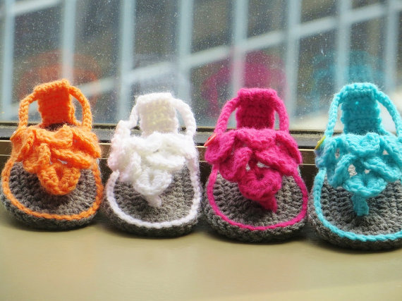 Crochet Pattern Crochet Baby Sandals Pattern Crocodile Stitch
