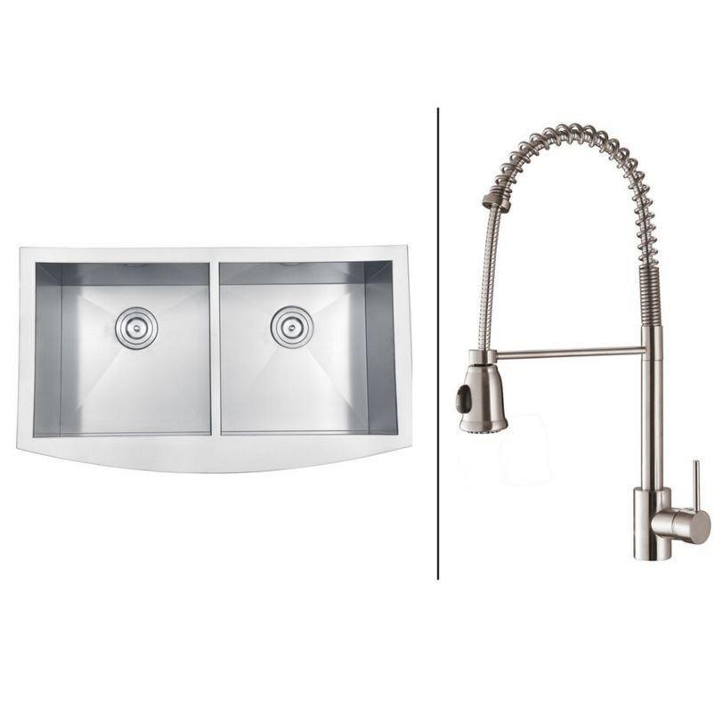 36 ruvati stainless steel farmhouse sink set rvc2468 36