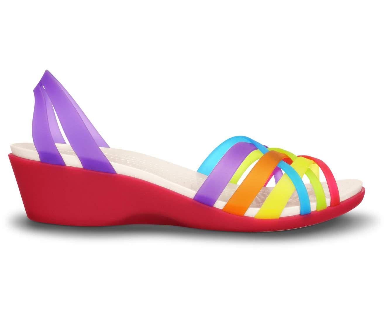 ea6e203e466b Rainbow Brite jellies!! I must have these! Women s Huarache Mini Wedge