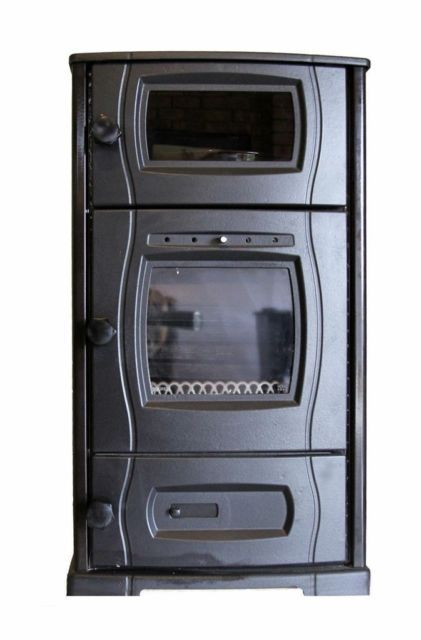Slow Combustion Wood Heater With Oven Heating Capacity 14kw Height 100cm Length 60cm Depth 60cm Weight 125kg Wood Heater Wood Stove Heater Wood Burning Oven