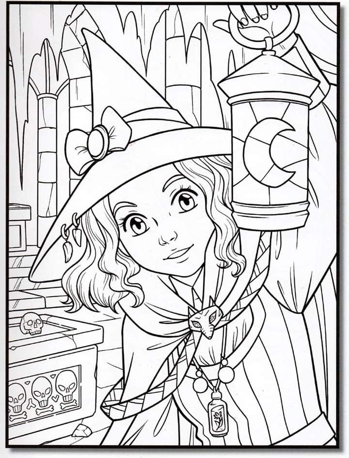 24+ Cute witch coloring pages ideas