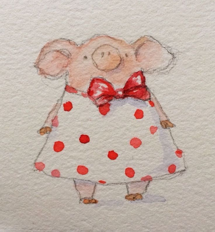 Pig In A Dress Adorable In 2020 Schwein Illustration Schwein