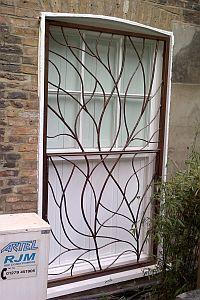 Decorative Window Bar Security Example 1 Window Bars Window Security Bars Window Security