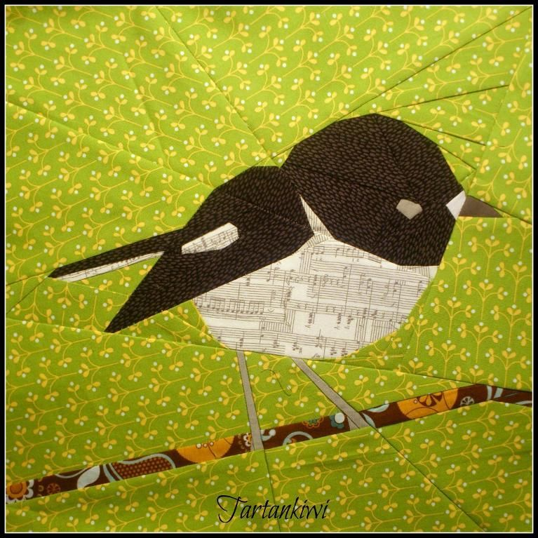 Tomtit 12 inch Paper Pieced Pattern