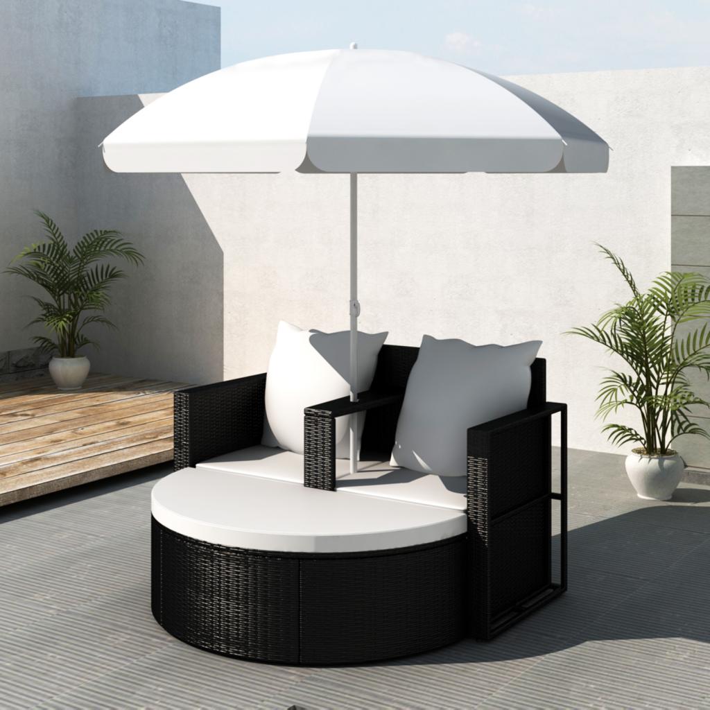 polyrattan lounge set schwarz, gartenlounge poly rattan lounge set gartengarnitur schwarz | home, Design ideen