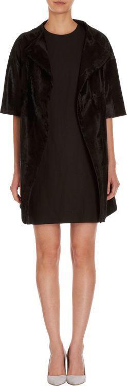 $5,995, Barneys New York Lamb Fur Elbow Length Sleeve Coat Black. Sold by Barneys New York. Click for more info: https://lookastic.com/women/shop_items/340824/redirect