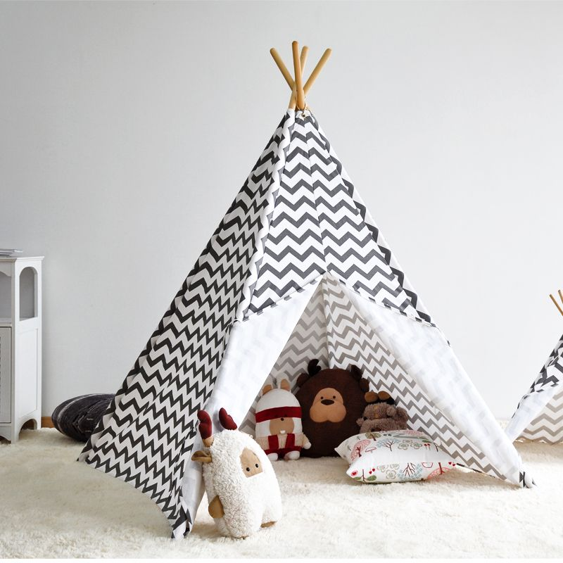 Cheap idea supplies Buy Quality tent function directly from China tent play Suppliers Zigzag Stripe Indian Kids Teepee Tent - Great Gift Idea for Kidsu0027 ... & Zigzag Stripe Indian Kids Teepee Tent - Great Gift Idea for Kids ...