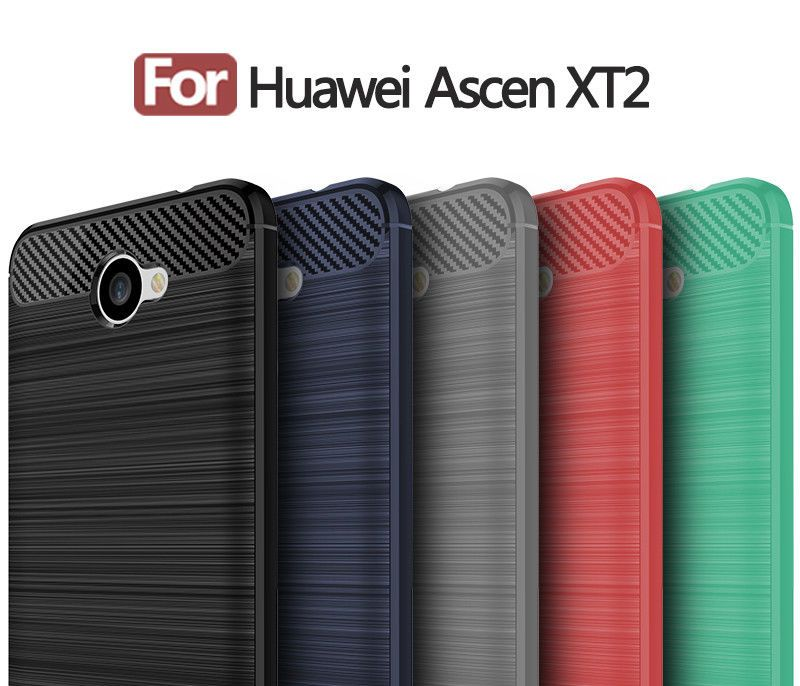 Brushed Rugged Armor Hybrid Tpu Cover Case For Huawei Ascend Xt2