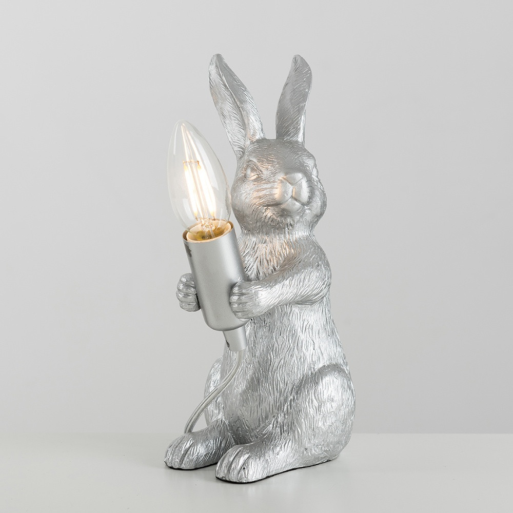 Ringo Rabbit Gold Table Lamp with Dusky